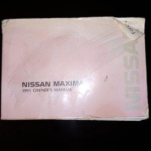 1991 Nissan Maxima Owners Manual / Car Manual